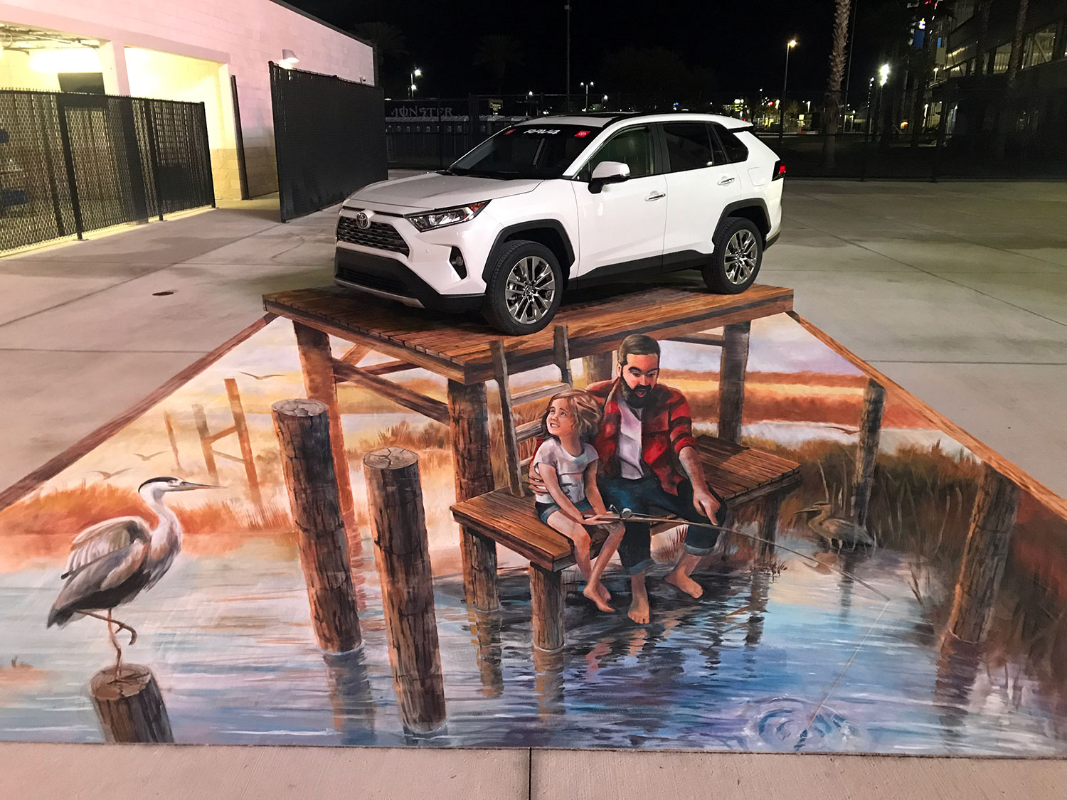 anamorphic chalk illusion