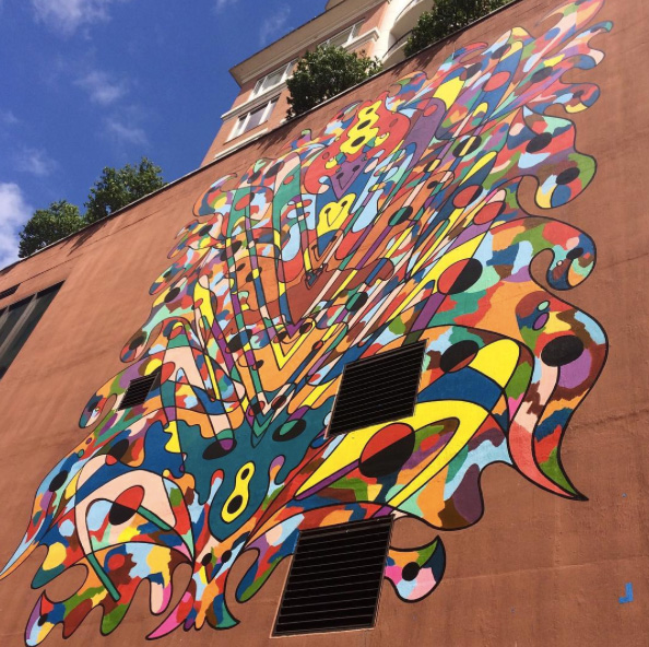 hotel large scale mural