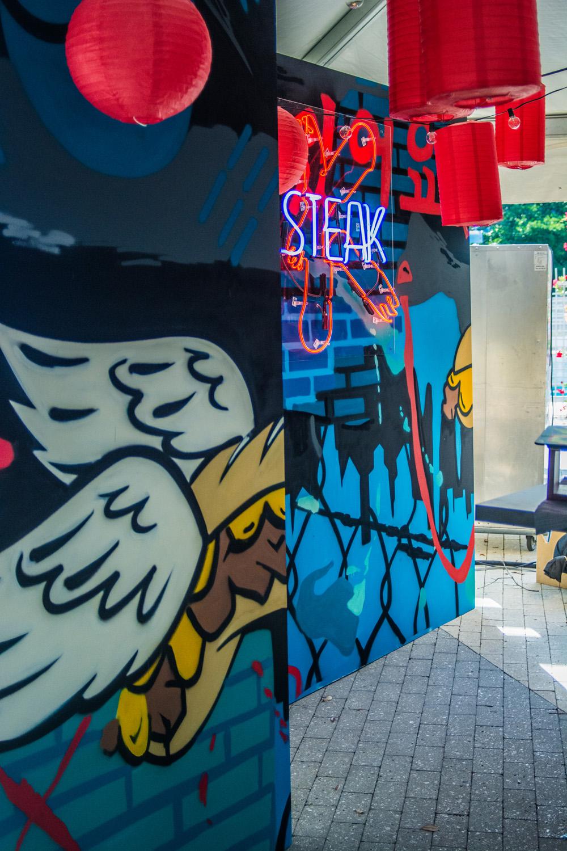 Graffiti backdrop Mural
