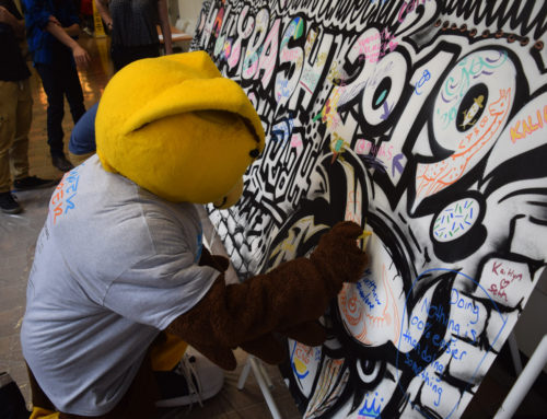 Interactive Coloring Mural for Rowan University in NJ