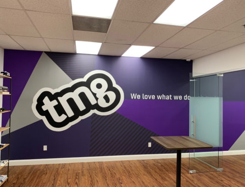 Hand Painted Indoor Office Mural in New Jersey for TMG
