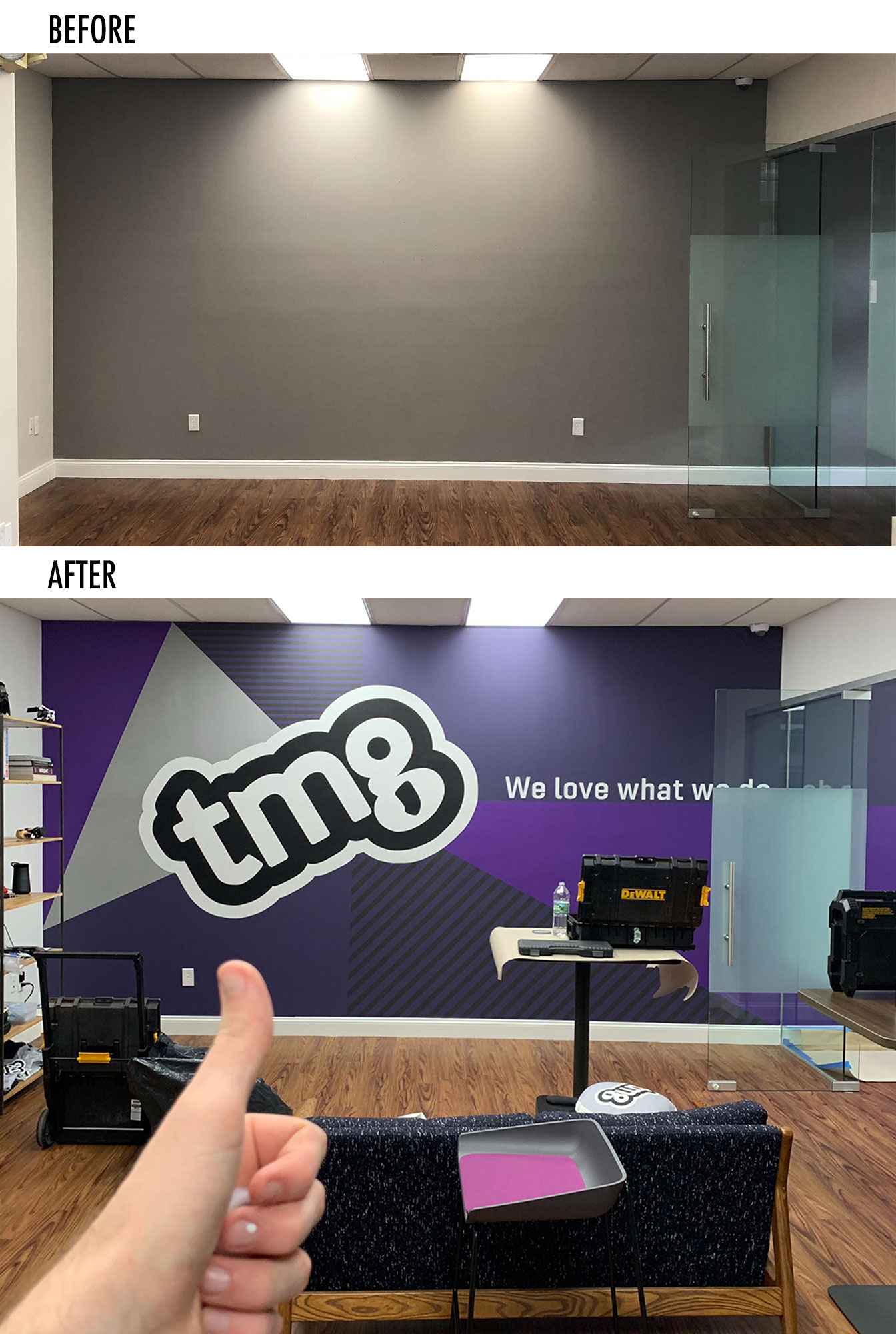 Before & After - Mural Agency