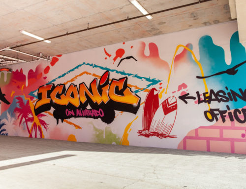 Parking Garage Graffiti Mural in San Diego for SDSU