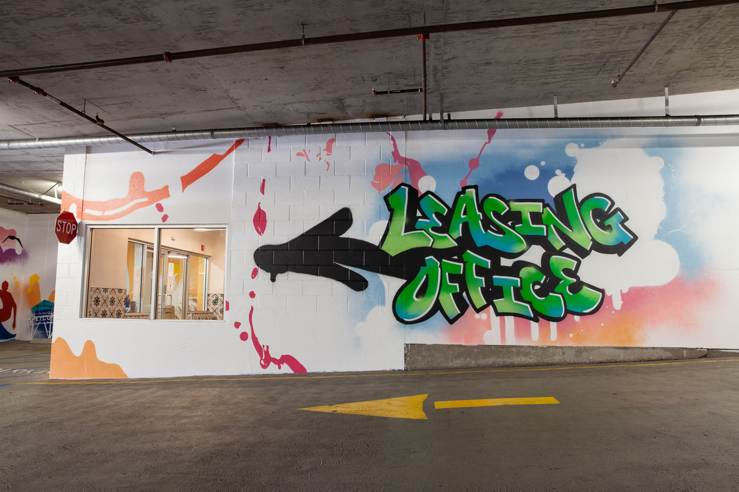 San Diego State Leasing Office Mural - Parking Garage Graffiti