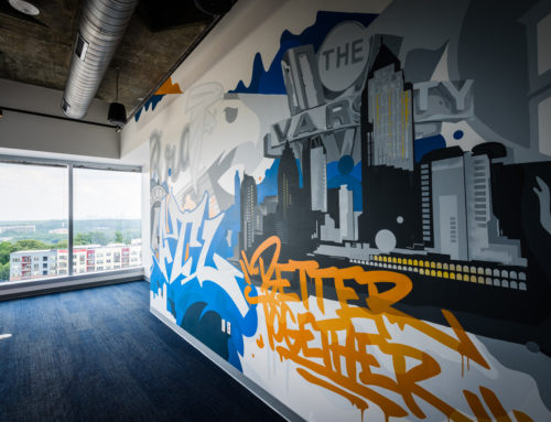 Atlanta Graffiti Mural for Bennett Thrasher's Corporate Office