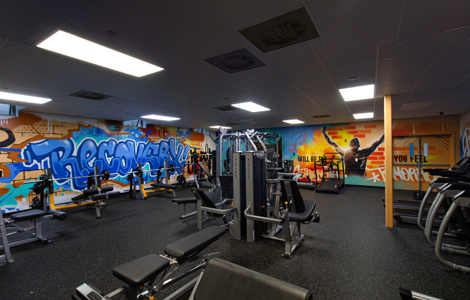 Basement Gym - Recovery Mural Health in NJ