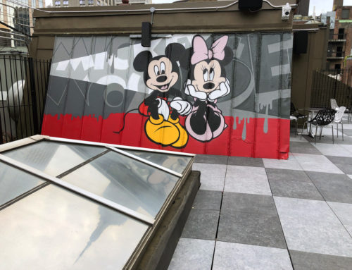 Cartoon Graffiti Art in New York City: Mickey and Minnie!
