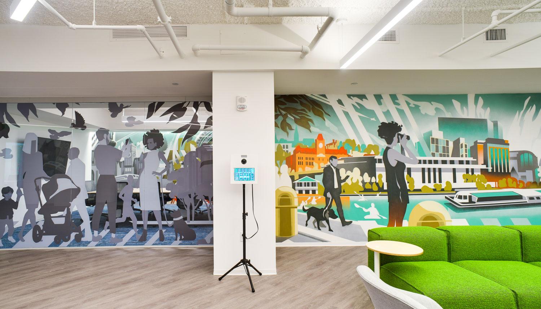 corporate office graffiti art mural walls