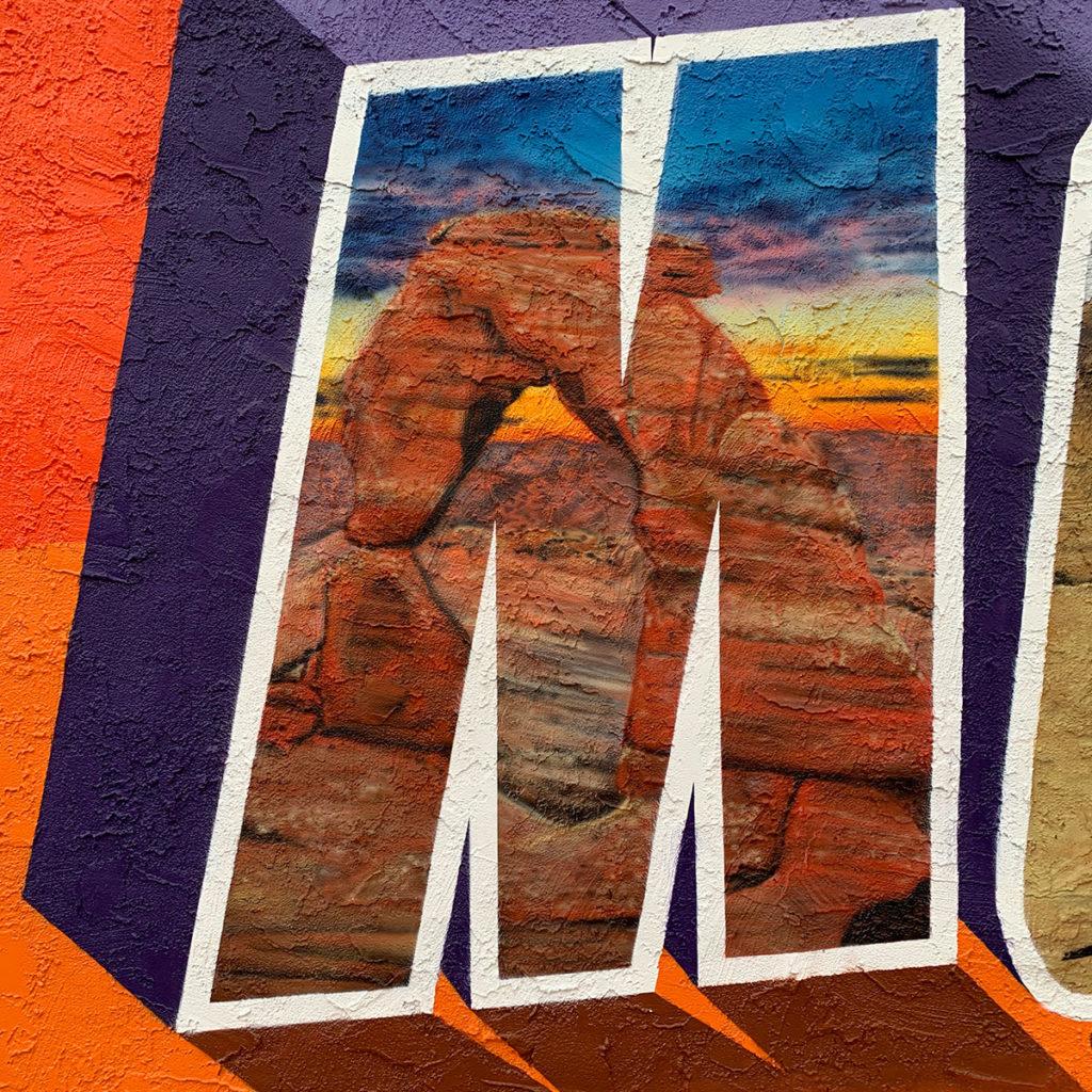 landscape realistic street art
