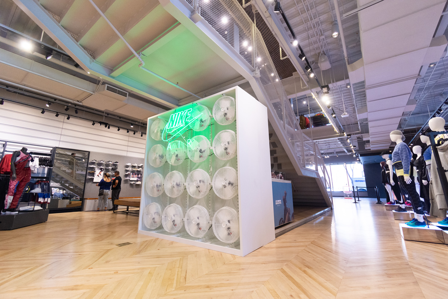Futuristic Fan Wall Build Out for Nike Store