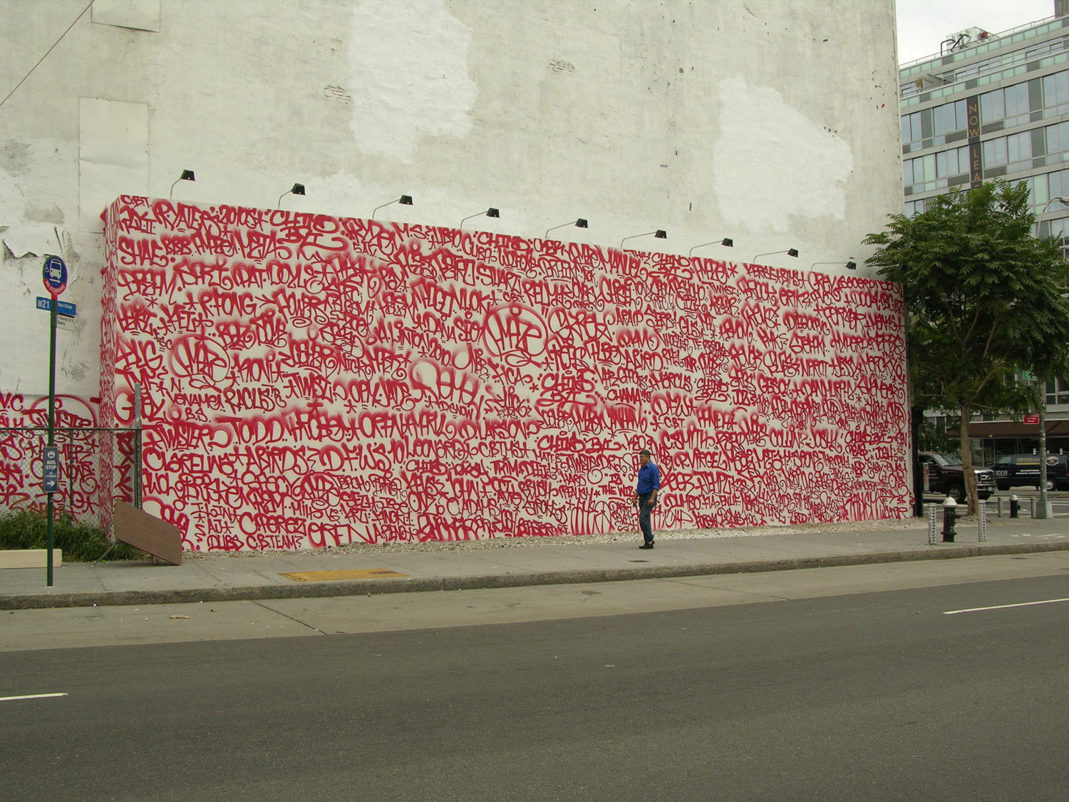 Barry McGee Tag Wall on Houston in NYC