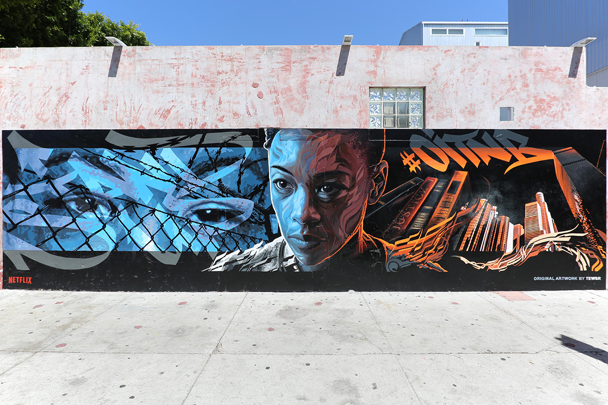 Los Angeles Portrait Mural in Venice
