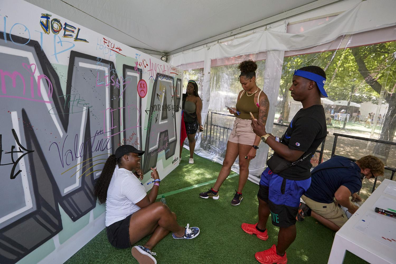 Interactive Graffiti Art at Music Festival