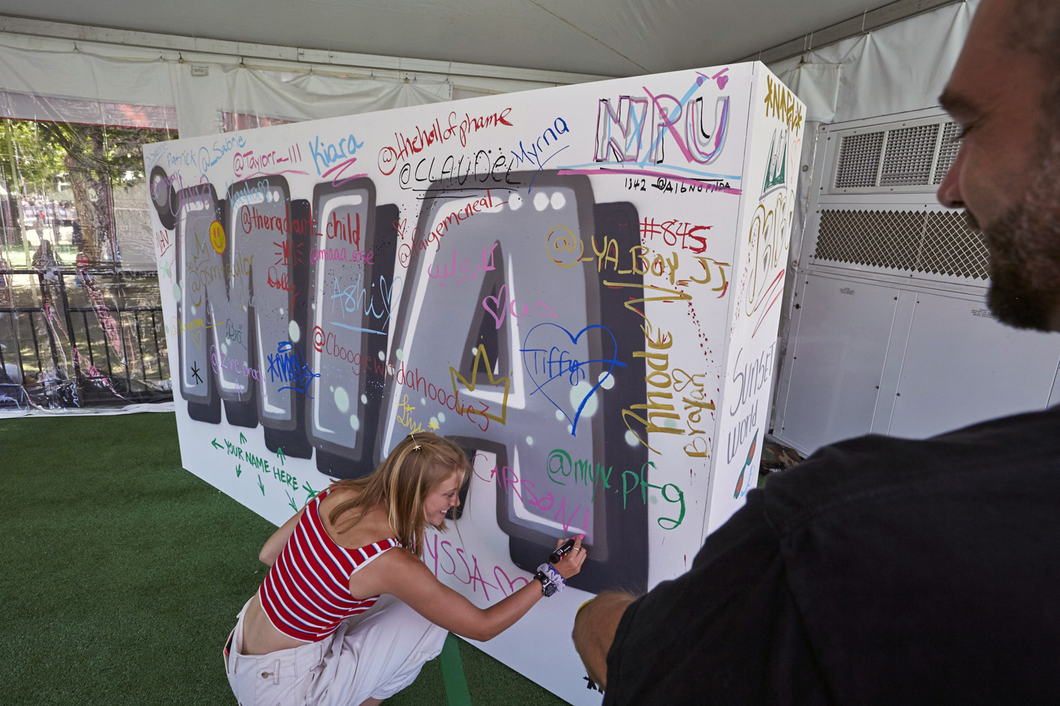Philly Music Festival Activation Graffiti Wall