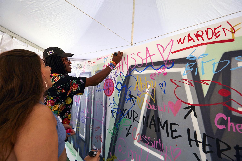 Interactive Art at Music Festival