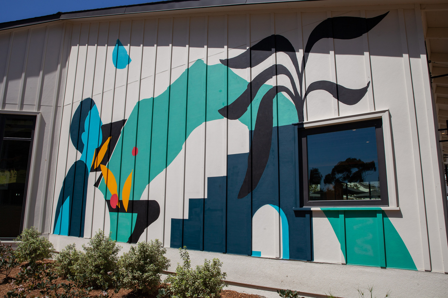 Outdoor Mural Art for Cava