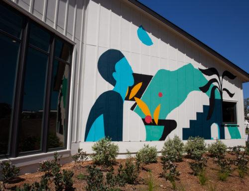Mural Artist San Diego – Cava Restaurant Exterior Mural