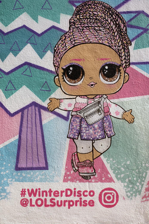 kid's toy mural