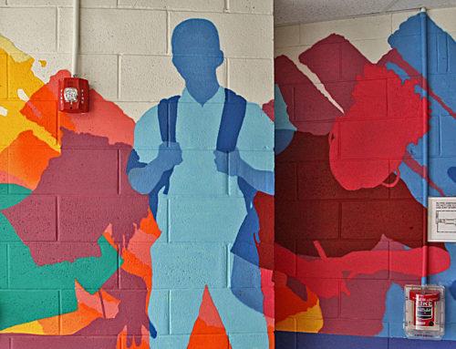 Bronx Indoor Mural Artist – Metropolitan Lighthouse Charter School Pt. 2