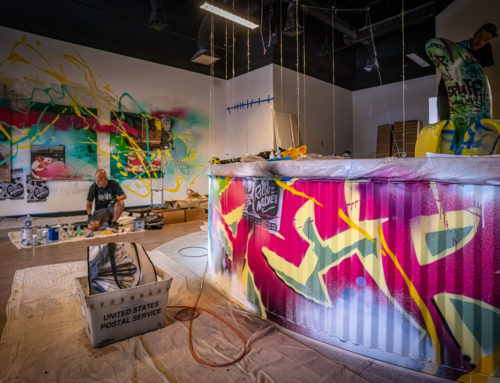 Maine Graffiti Artist – Grass Monkey Dispensary Interior Mural in Portland