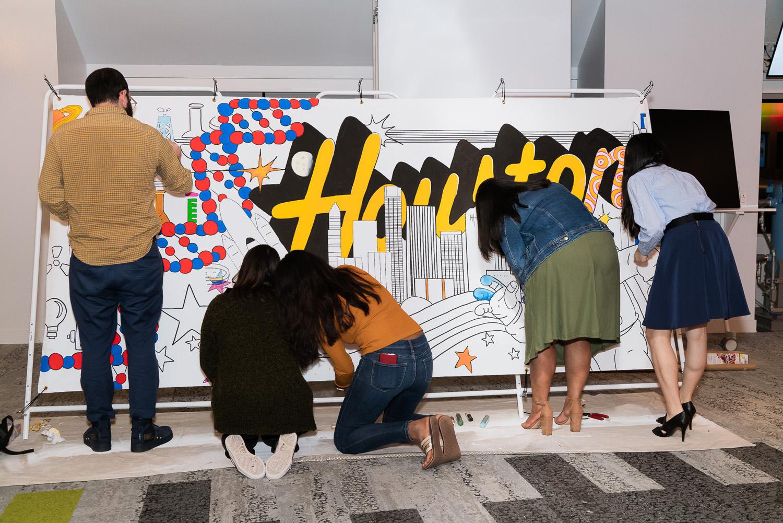 Houston TX Interactive Mural