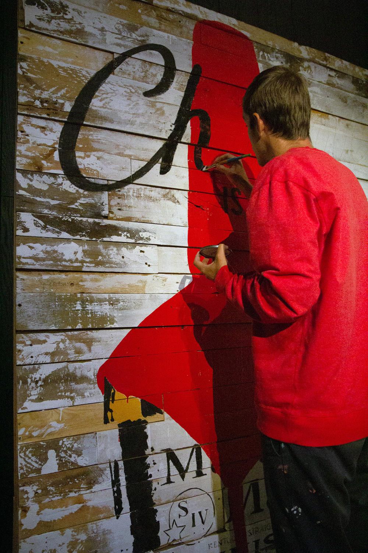 Live Art on Reclaimed Wood