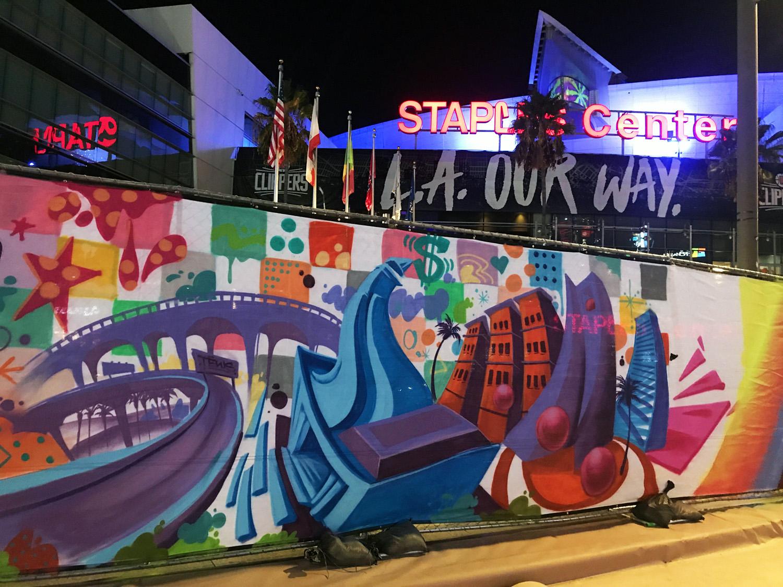 Live Art at LA Live by Local Graffiti Artists
