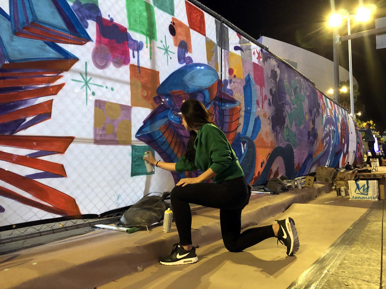 Interactive Graffiti Mural in DTLA