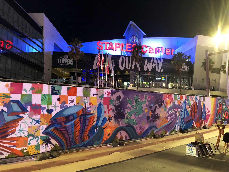 Freestyle Graffiti Mural in Downtown LA