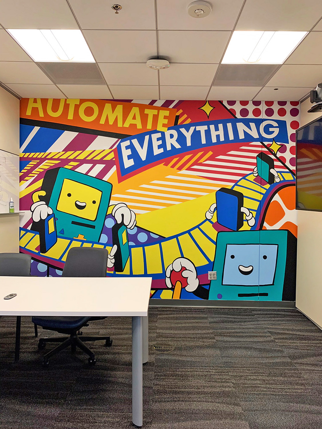 Automate Everything Robot Mural in Phoenix