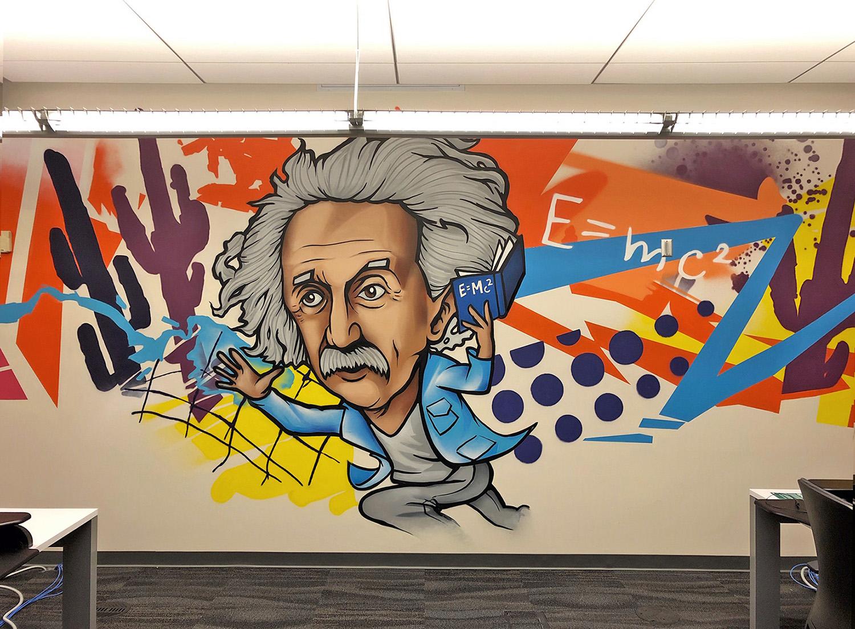 Albert Einstein - Phoenix Interior Mural
