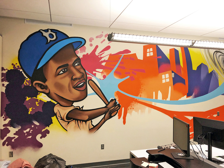 Jackie Robinson Graffiti Mural