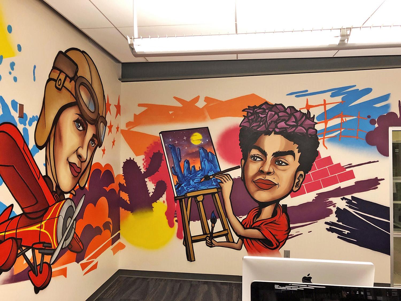 Amelia Earrhart & Frida Kahlo Mural