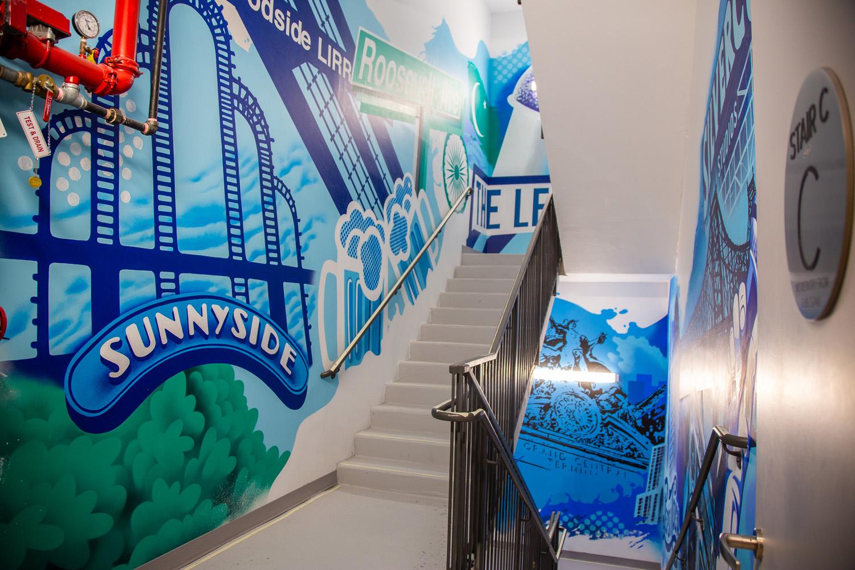Hudson Yards Queens Graffiti Art in Stairway