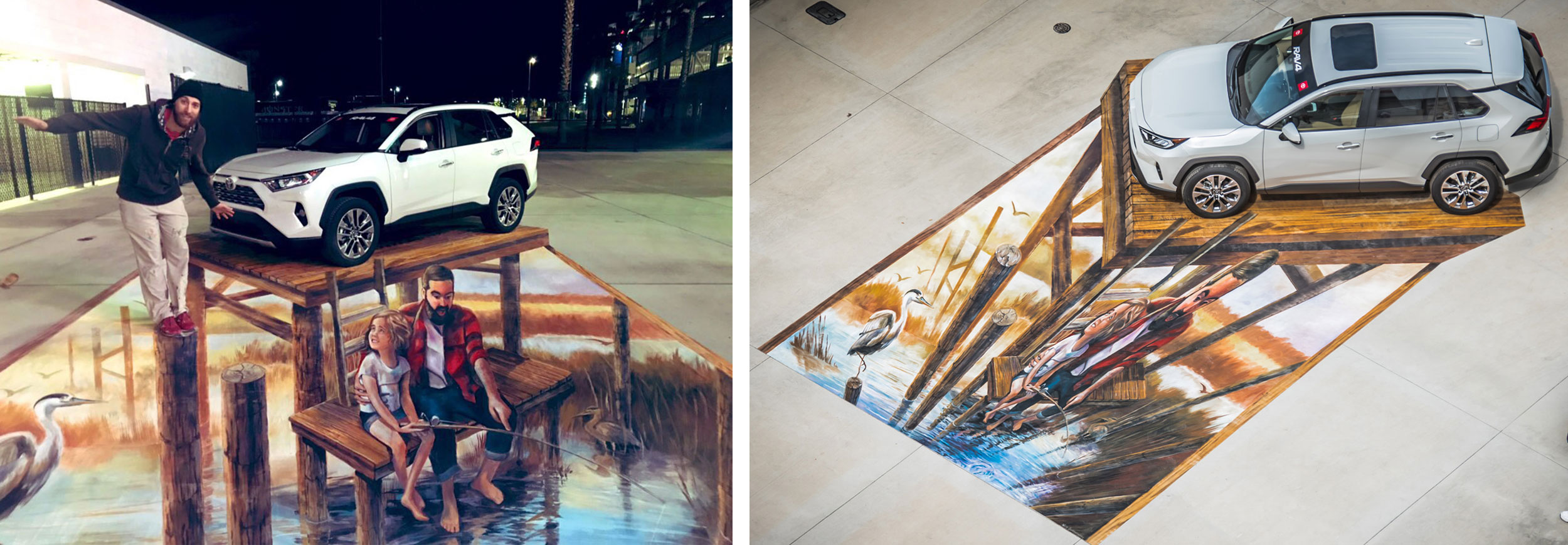 Optical Illusion Floor Mural