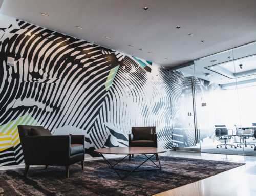 Office Murals for Turner Broadcasting in Hudson Yards