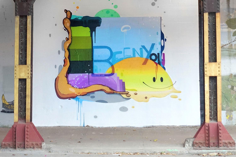 Promotional Street Art for JB