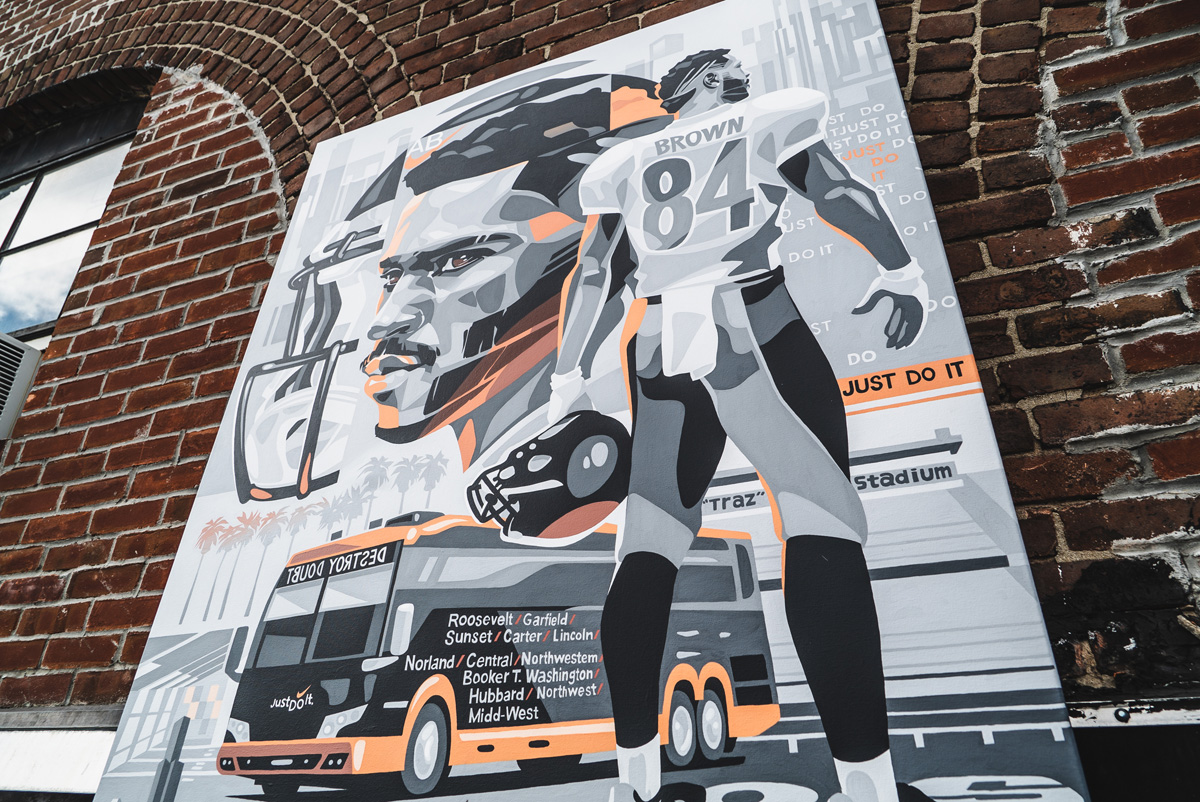 Mural Art for Sports Philanthropist Antonio Brown