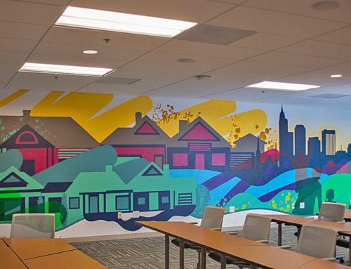 Raleigh Interior Office Mural