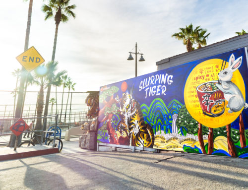 Outdoor Ad Mural for Nongshim in Venice Beach