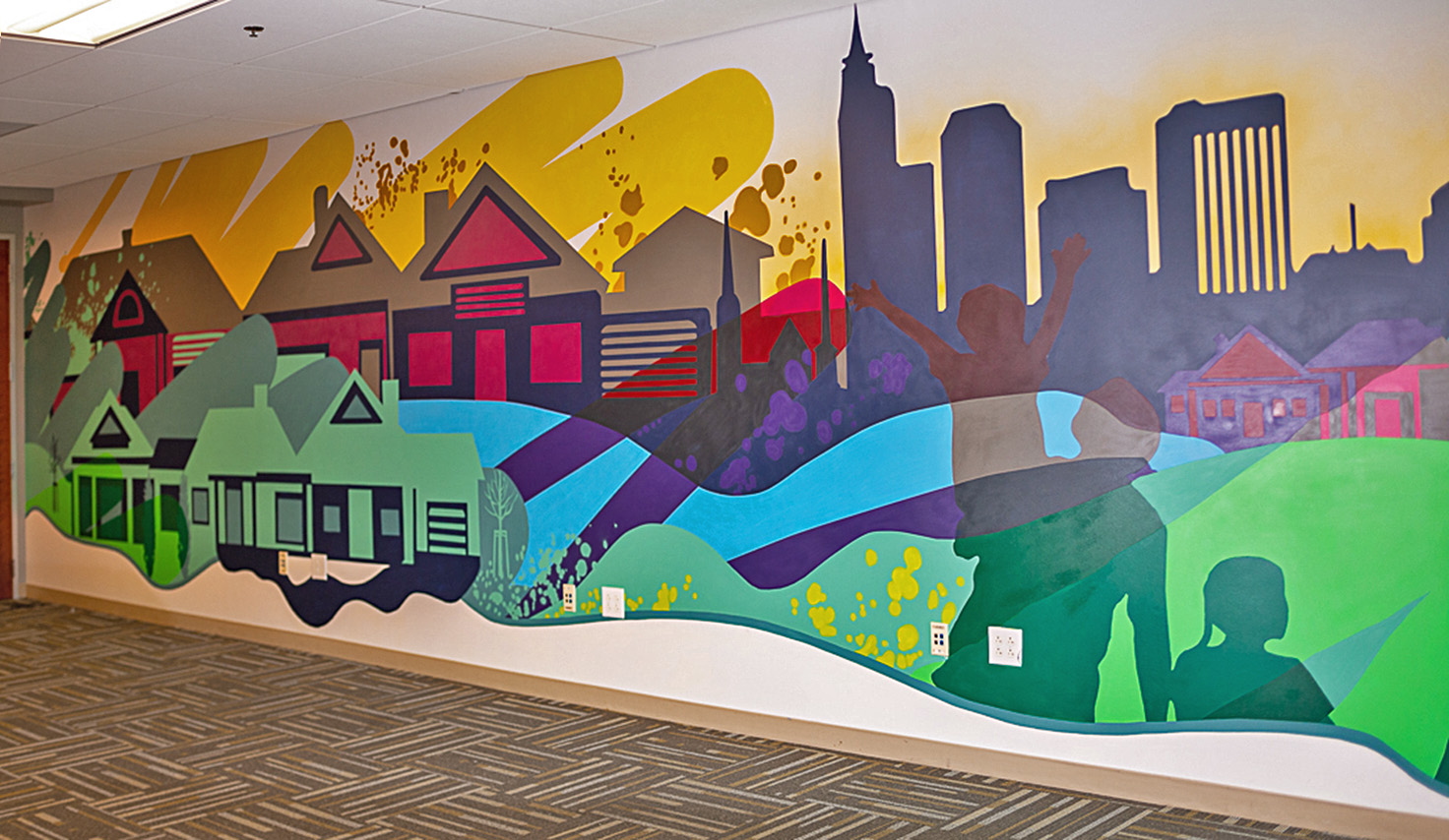 Raleigh Interior Office Mural - Right Profile