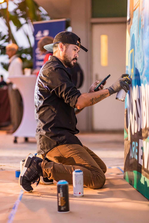 Live Artwork in Miami - 1