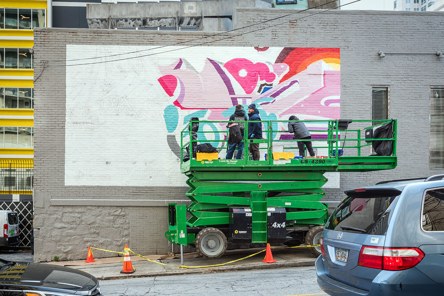Street Artists Paint Mural for TikTok in Atlanta