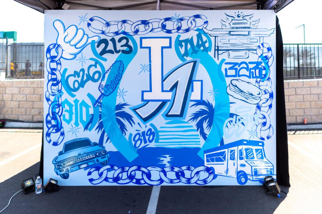 626 Area Code Backdrop Graffiti Mural