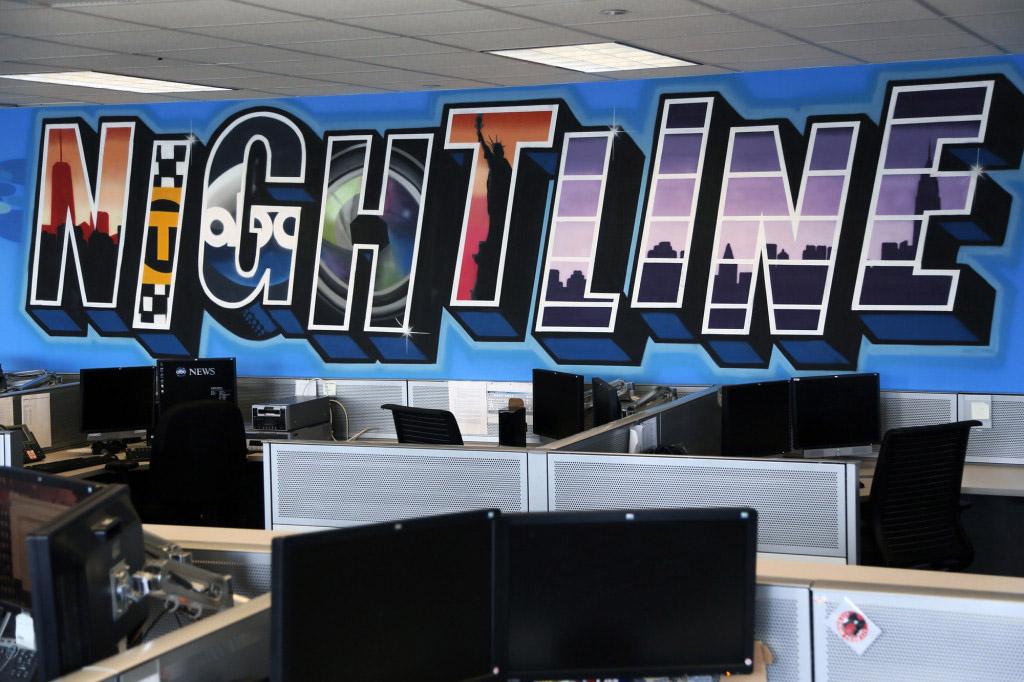 Nightline Office Mural in NYC