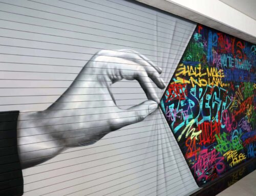 Street Art Reveal Mural in Santa Monica Garage