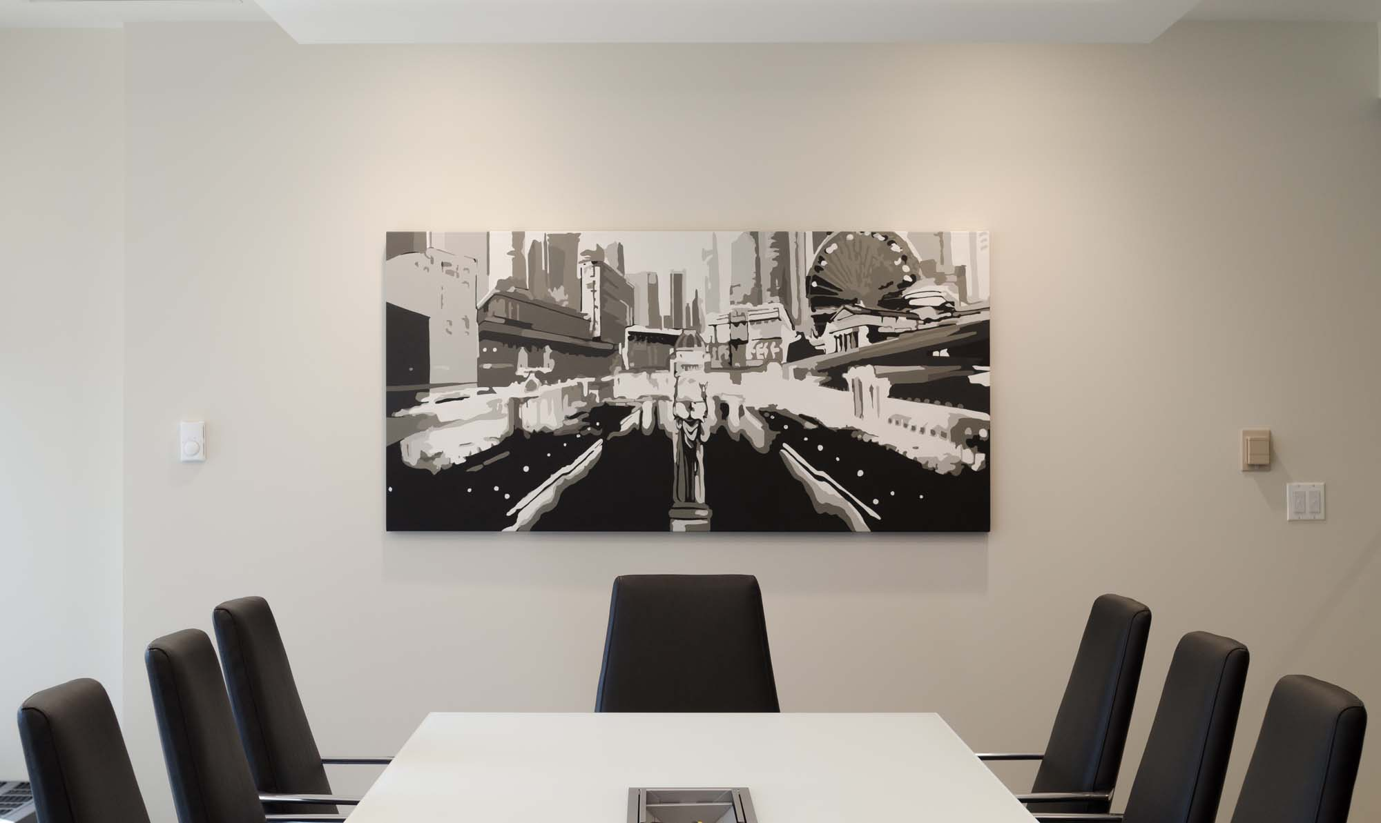 Graffiti Canvas in Meeting Room