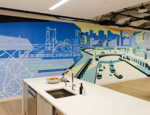 Custom Interior Chicago Office Mural & Canvas