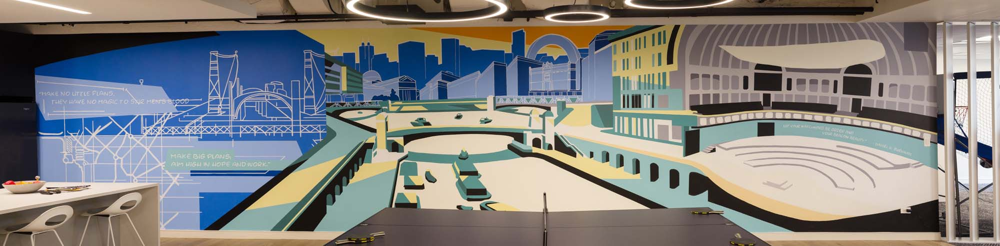 Chicago Interior Mural for Office Space