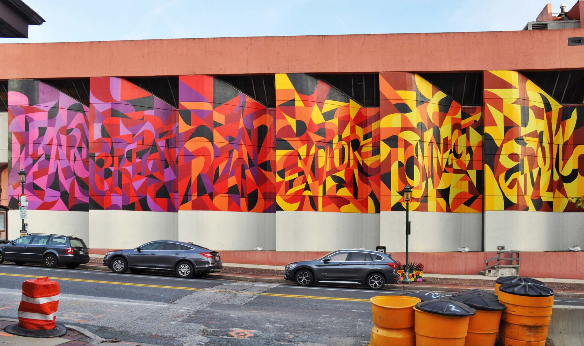 Public Art Mural on Library